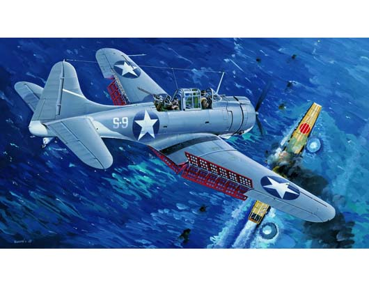 "U.S.NAVY SBD-3 ""Dauntless"" MIDWAY   02244"