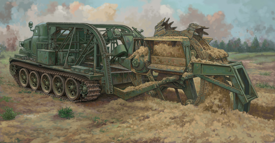BTM-3 High-Speed Trench Digging Vehicle 09502