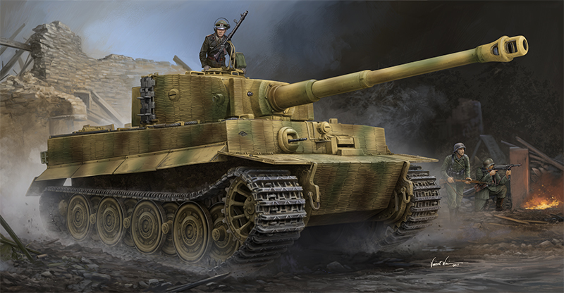 Trumpeter 09540-1:35 Pz.Kpfw.VI Ausf.E Sd.Kfz.181 TigerI w//Zim Late Production