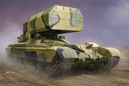 Russian TOS-1 Multiple Rocket Launcher Mod.1989 09560